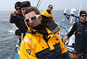 La tripulación rumbo a Irlanda. (Foto: Telefónica Azul)