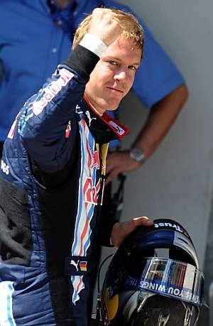Sebastian Vettel celebra su segunda pole del año. (Foto: AFP)