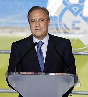 El presidente del Real Madrid, Florentino Pérez. (Foto: Sergio González)