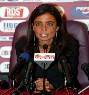 Rosella Sensi, presidente del AS Roma.