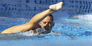Gemma Mengual durante su ejercicio. (EFE)