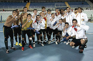 La selección española revalidó su oro. (EFE)