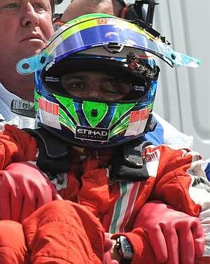 Felipe Massa, tras sufrir el accidente. (Foto: EFE)