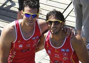 Craviotto y Pérez. (Foto: EFE)