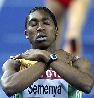 Semenya celebra su primer título mundial. (Foto: EFE)