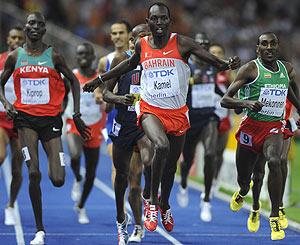 Kamel celebra su triunfo en los 1.500 m. (Foto: AFP)