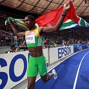 Semenya celebra su victoria en Berlín. (Foto: EFE)