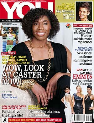 Caster Semenya, portada de la revista 'You'.
