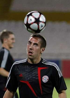 Franck Ribéry, en el último entrenamiento del Bayern. (Foto: AFP)