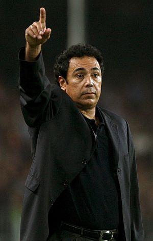 Hugo Sánchez, en el Camp Nou. (EFE)