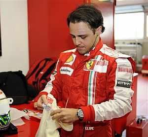 Massa, el lunes en Maranello. (AP)