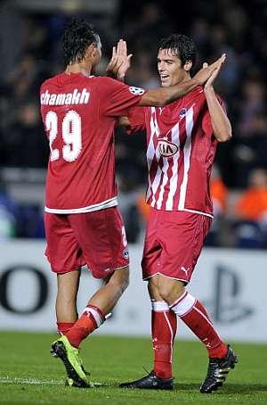 Los jugadores del girondins celebran su triunfo sobre el Bayern. (Foto: AP)