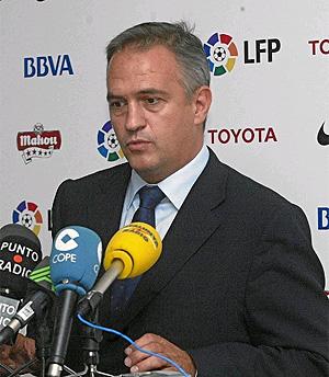 José Luis Astiazarán, presidente de la LFP. (Foto: Julio Palomar)