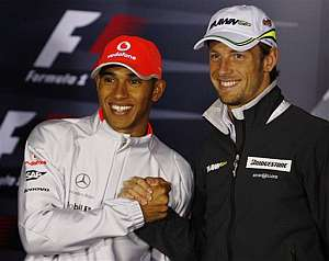 Hamilton y Button. (Foto: AP)