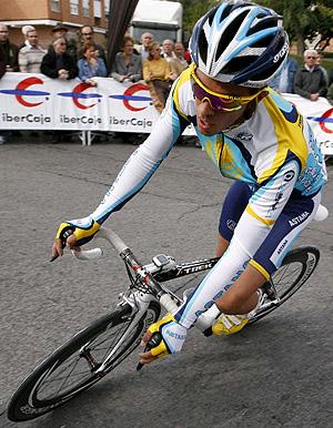 Alberto Contador, con el Astana. (Foto: EFE)