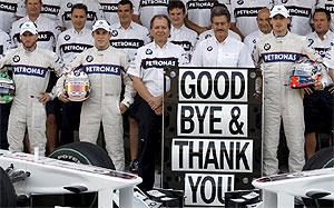 El equipo BMW se despidió de la Fórmula 1 en la última carrera de Abu Dhabi. (Foto: EFE)