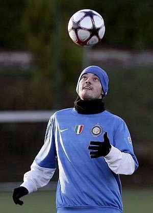 Wesley Sneijder, en un entrenamiento. (Foto: EFE)