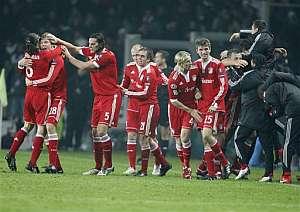 Los jugadores del Bayern celebrando la victoria. (Foto: AP)