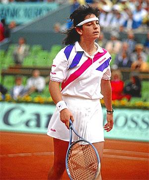 Arantxa Sánchez Vicario, durante el Roland Garros de 1989. (Foto: El Mundo)