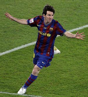 Messi celebra el gol al Atlante mexicano. (AP)