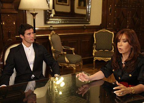 José María López, durante su visita a Cristina Kirschner. | Efe
