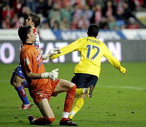 Pedro, tras batir a Juan Pablo. (Foto: EFE)
