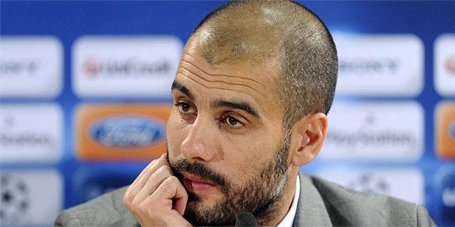 Pep Guardiola, durante la rueda de prensa. (AFP)