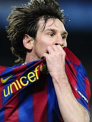 Messi, tras uno de los goles al Arsenal. (Foto: AP)