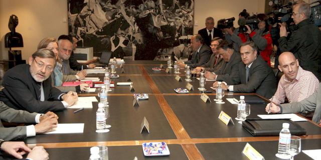 Imagen de la reunión mantenida en el Consejo Superior de Deportes. | Efe