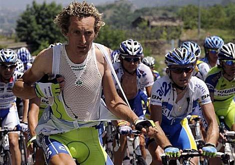 Pellizotti, durante la décima etapa del pasado Giro de Italia. (Foto: Afp)