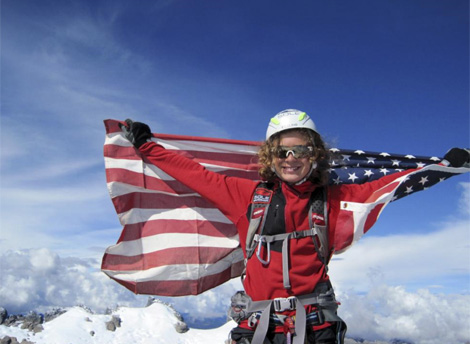 Jordan Romero en el Everest. Foto: AP