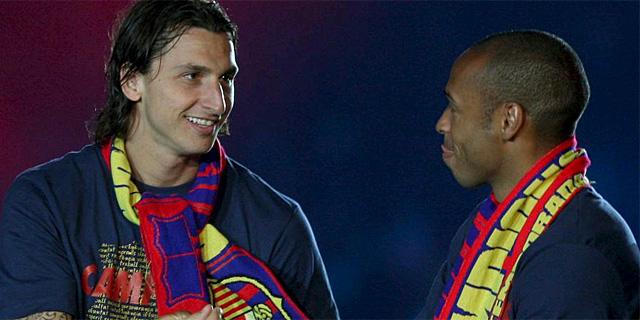 Zlatan Ibrahimovic. junto a Henry. (EFE)