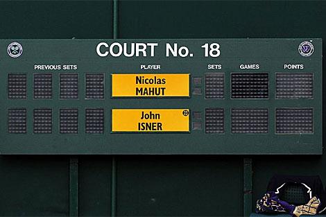 El marcador de la pista 18 se quedó sin respuesta a partir del juego 50. | Foto: atptennis.com