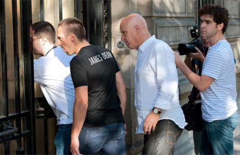Franck Ribéry, a la entrada de los juzgados.   Afp