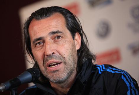 El entrenador interino de Argentina, Sergio Batista. Foto: AFP