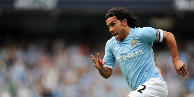 Tévez, en un partido reciente con el Manchester City. | AFP Photo