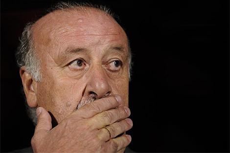 Vicente del Bosque , durante el partido. (AFP)