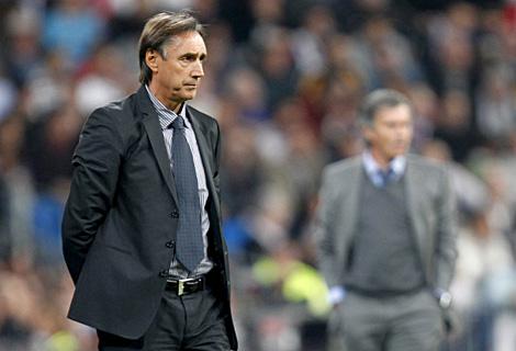 Miguel Ángel Portugal, entrenador del Racing de Santander. (Efe)