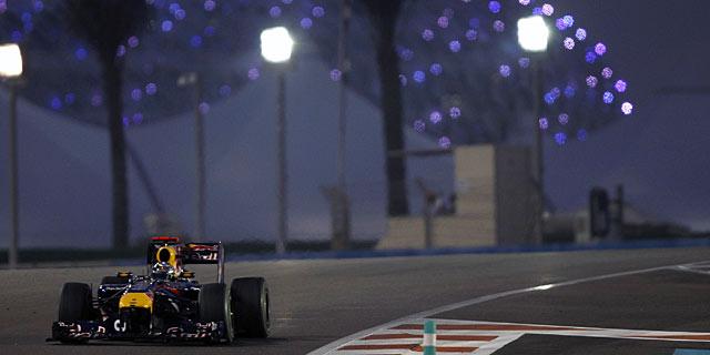 Vettel, durante el GP de Abu Dhabi. | Reuters