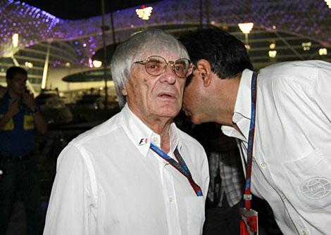 Ecclestone, durante el pasado GP de Abu Dhabi. | Reuters