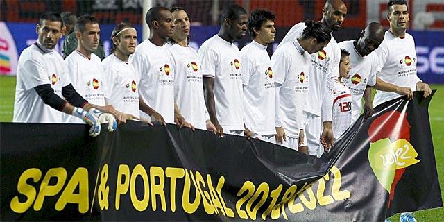 Los país de la LFP se han volcado en apoyar la candidatura de España y Portugal.   Efe