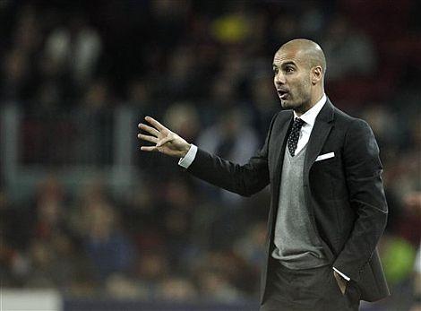 Pep Guardiola, durante un partido. | Ap