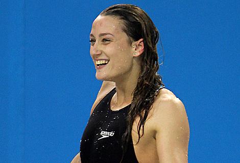 Mireia Belmonte, tras proclamarse campeona de 200 estilos. (Afp)