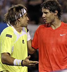 '¿Por qué no te has retirado?', pregunta Ferrer a Nadal. | Ap