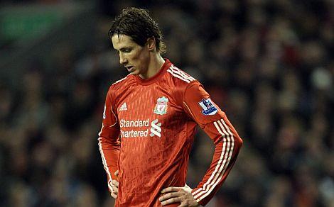 Fernando Torres, durante un partido con el Liverpool. | Efe