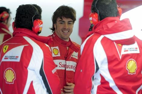 Fernando Alonso, durante los últimos entrenamientos. | Efe