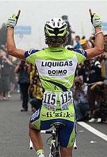 Pellizotti, en el Giro 09.
