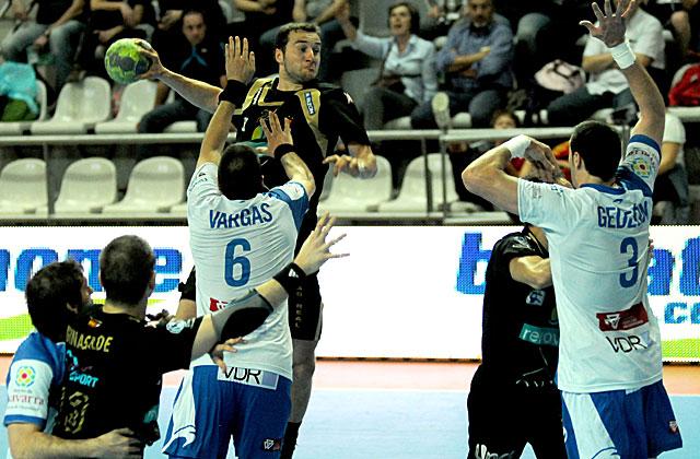 Partido entre el San Antonio y el Ciudad Real en los cuartos de final de la Copa del Rey en Vigo..