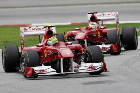 Massa y Aonso durante el último Gran Premio. | AP