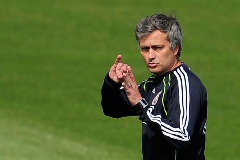 José Mourinho, este viernes en Valdebebas. | Afp